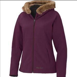 Marmot Furlong aubergine softshell jacket, XL